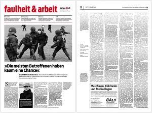 Bild - jungeWelt-Interview vom 21.02.2015 mit Dr. Lilia Monika Hirsch