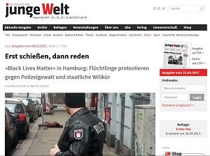 Screenshot - jungeWelt-Artikel vom 08.02.2017